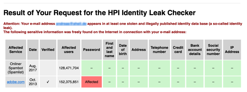 Leaked Passwords #1