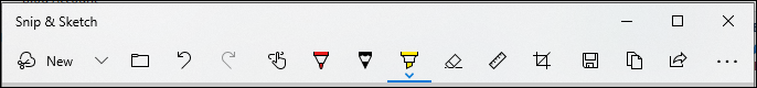 Snip & Sketch Toolbar