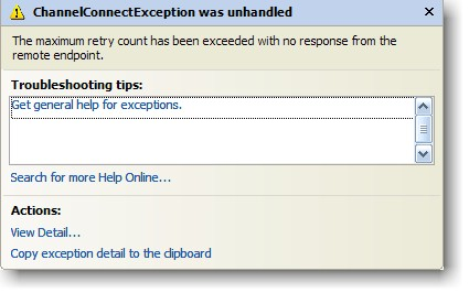 WCF Channel Exception