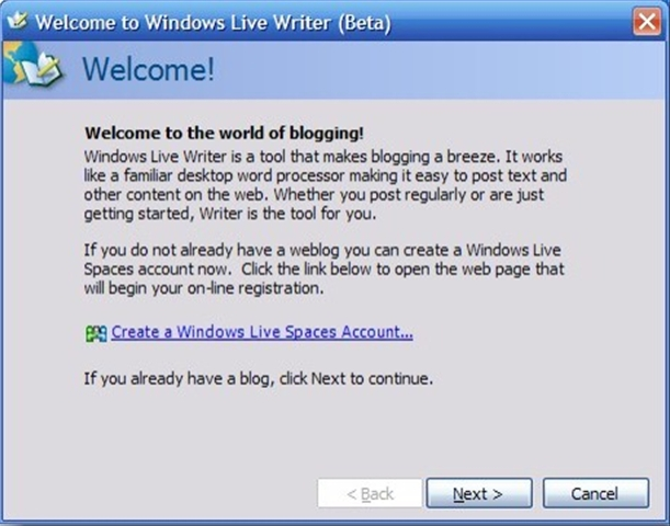 Welcome to Windows Live Writer