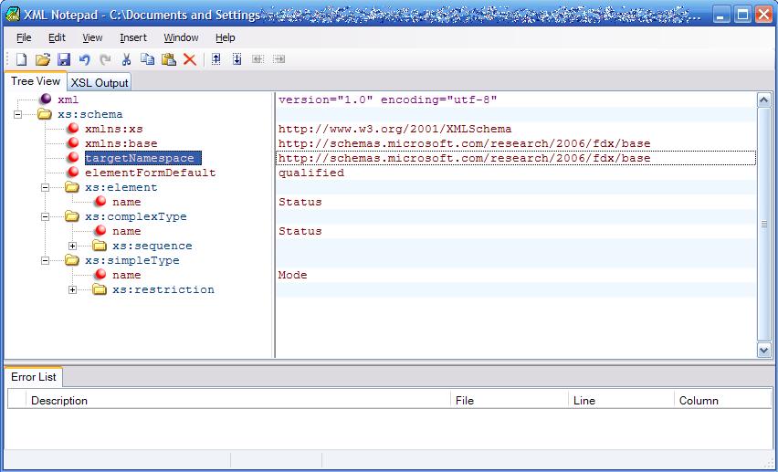 XML Notepad 2006
