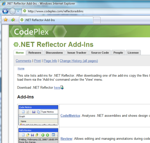 .NET Reflector Add-Ins