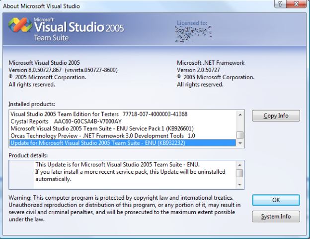 Visual Studio 2005