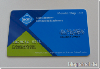 ACM Mebmership Card