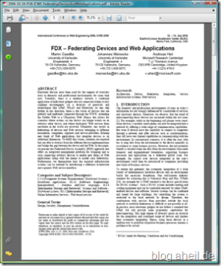 FDX - Federating Devices and Web Applications