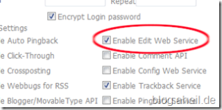 Enable Edit Web Service