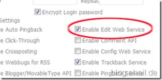 Enable Edit Web Service