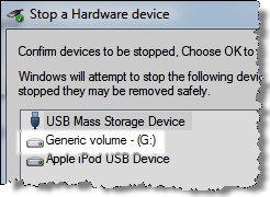 Stop a Hardware device