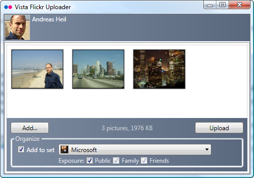 Vista Flickr Uploader