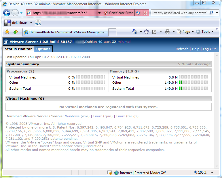 VMware Management Interface