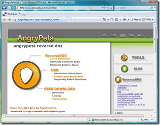 ReverseDOS Homepage