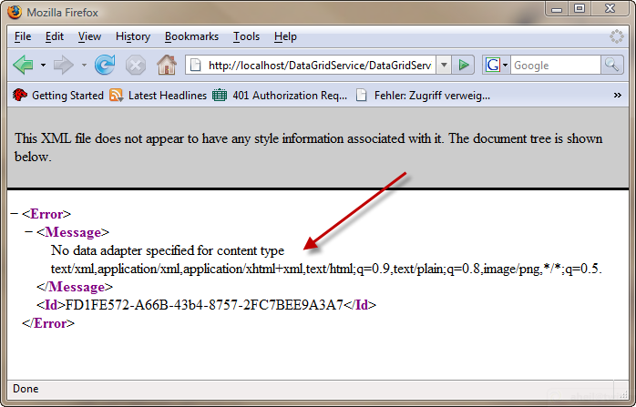 WebComposition/DGS supports Accept Headers