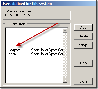SPAM/NOSPAM Correction Mailbox