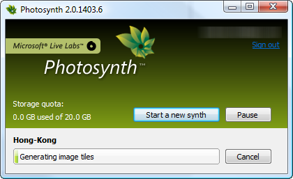 Photosynth - Generating synth dialog