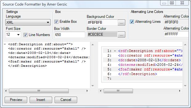 Source Code Formatter