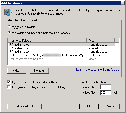 Add to Library Dialog