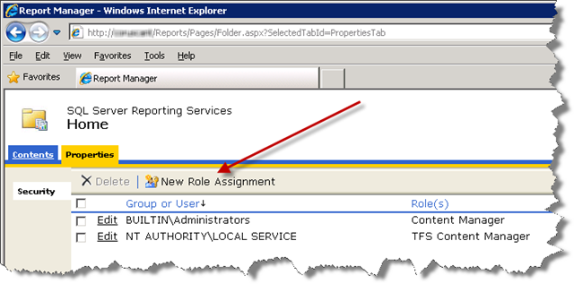 SQL Server Repoting Services - Home