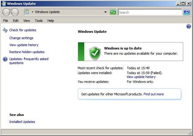 Windows up to date