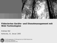 Föderiertes Geräte- und Dienstmanagement mit Web-Technologien