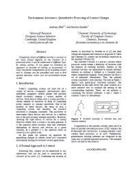 Environment-Awareness: Quantitative Processing of Context Changes