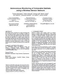 Autonomous Monitoring of Vulnerable Habitats using a Wireless Sensor Network