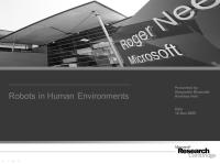 Robots in Human Environments
