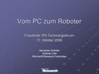 Vom PC zum Roboter