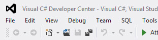 Visual Studio 2012 Capitalized Menus