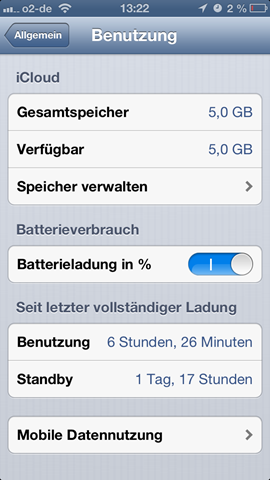 iPhone 5 Battery Life