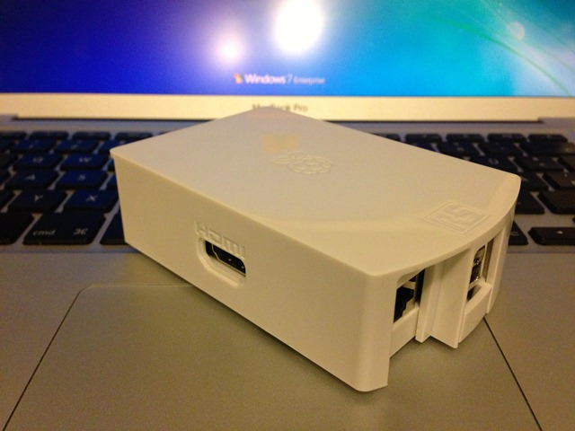Assembled Raspberry Pi Case