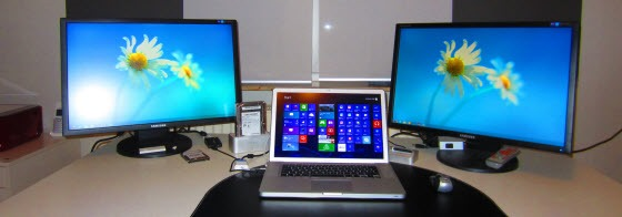 MacBook Pro Three Monitor Support Windows 8