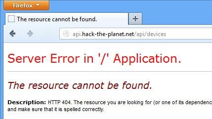 ASP.NET Web API 404