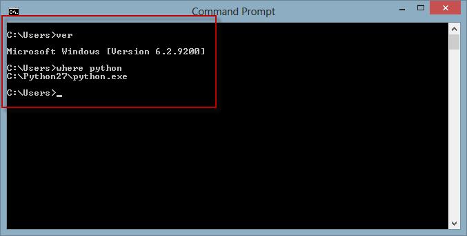 Python 2.7 on Windows 8.0