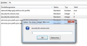 Firefox TLS 1